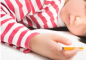 a girl sleeping